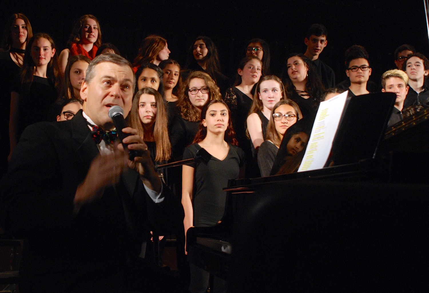 Richard Gilley led a final concert at Merrick Avenue Middle School in May, as he bade farewell to the school where he taught music for 25 years.