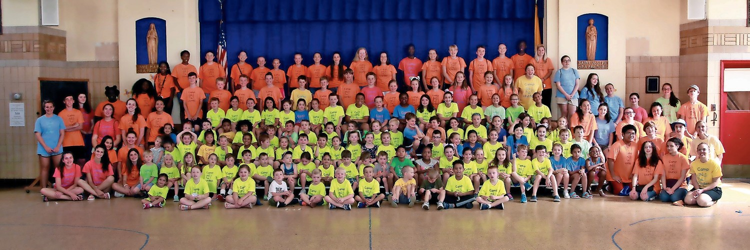 Campers and counselors at Camp Lourdes celebrated their 20th anniversary at Our Lady of Lourdes parish last week.