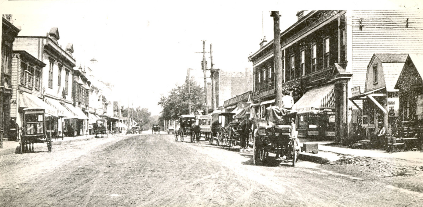 Looking north on Village Avenue, this photo was taken in 1889, four years before incorporation.