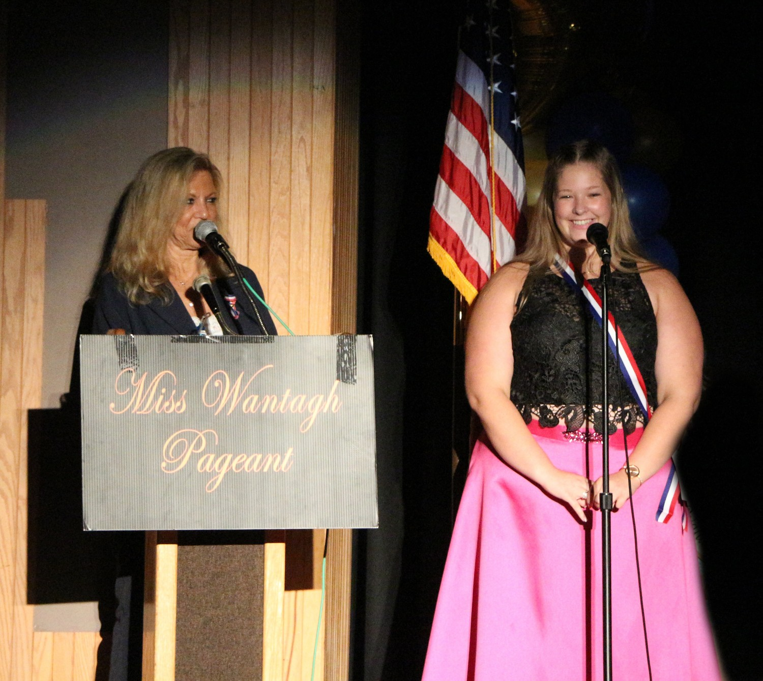 Bailey took questions from Ella Stevens, the director of the Miss Wantagh Pageant, during the pageant on June 29.