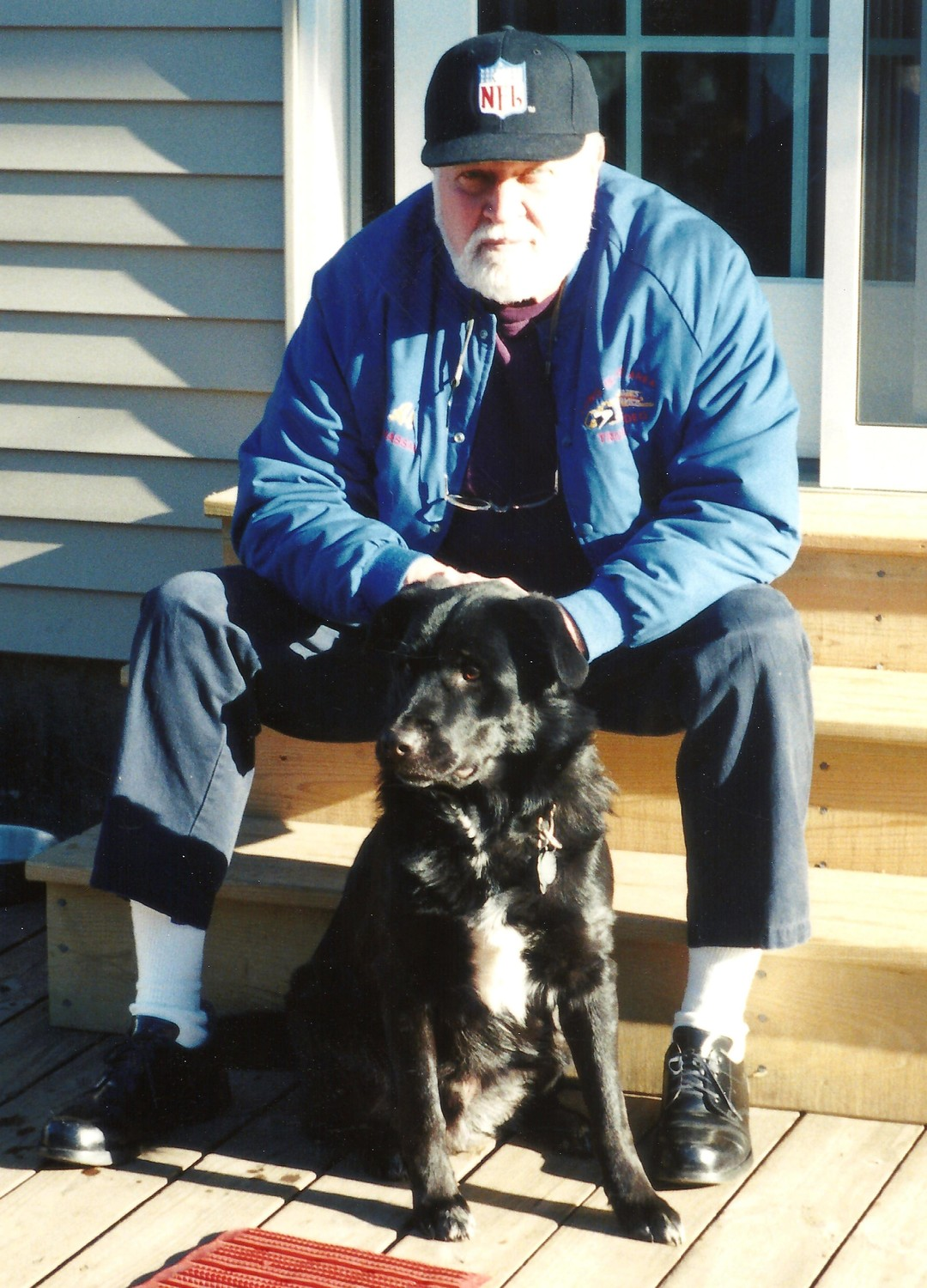"Alfred ""Al"" Klages of Seaford with his beloved dog, Angus."