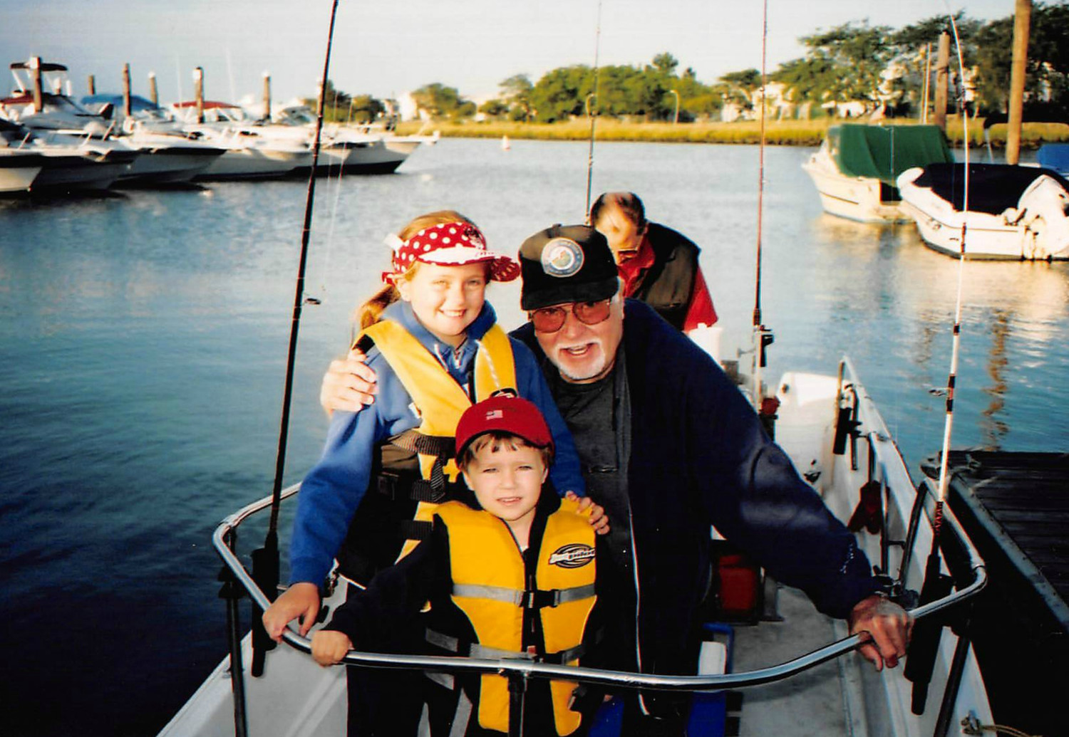"Alfred ""Big Al"" Klages passed along his love of fishing to his grandchildren Alana and Colin Fitzgerald."