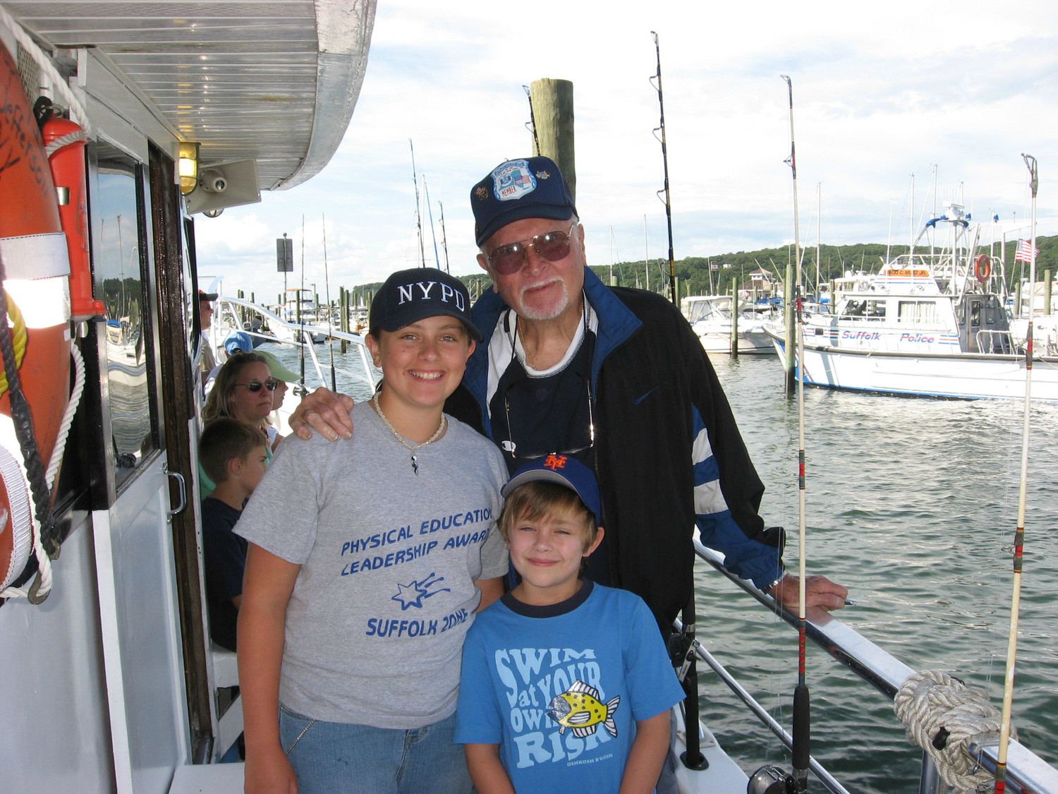 "Alana and Colin Fitzgerald loved boating and fishing with their grandfather, Al ""pop pop"" Klages."