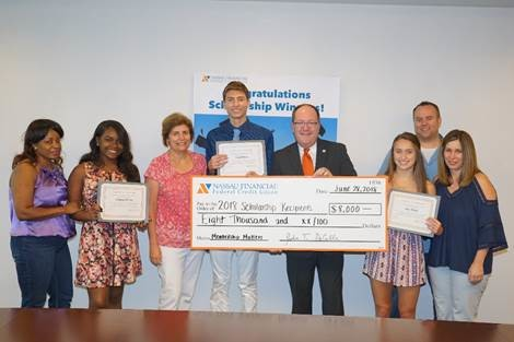 Nassau Financial Federal Credit Union recently awarded $8,000 in college scholarships to four graduating seniors from local high schools.