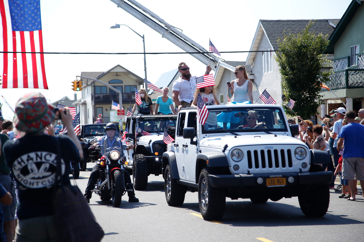 Hundreds of people participated in last year's Long Beach Waterfront Warriors Welcome Parade along West Beech Street to honor soldiers recuperating from combat.