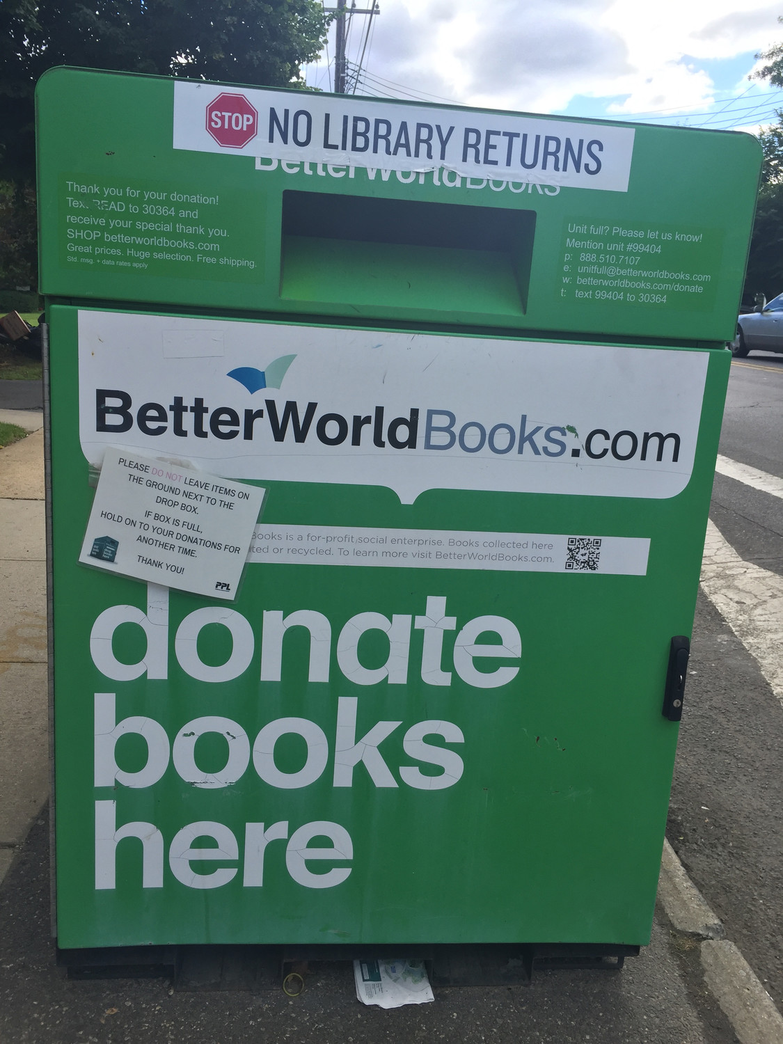 Better World Books has been collecting used and new books for sale or donation since 2002.