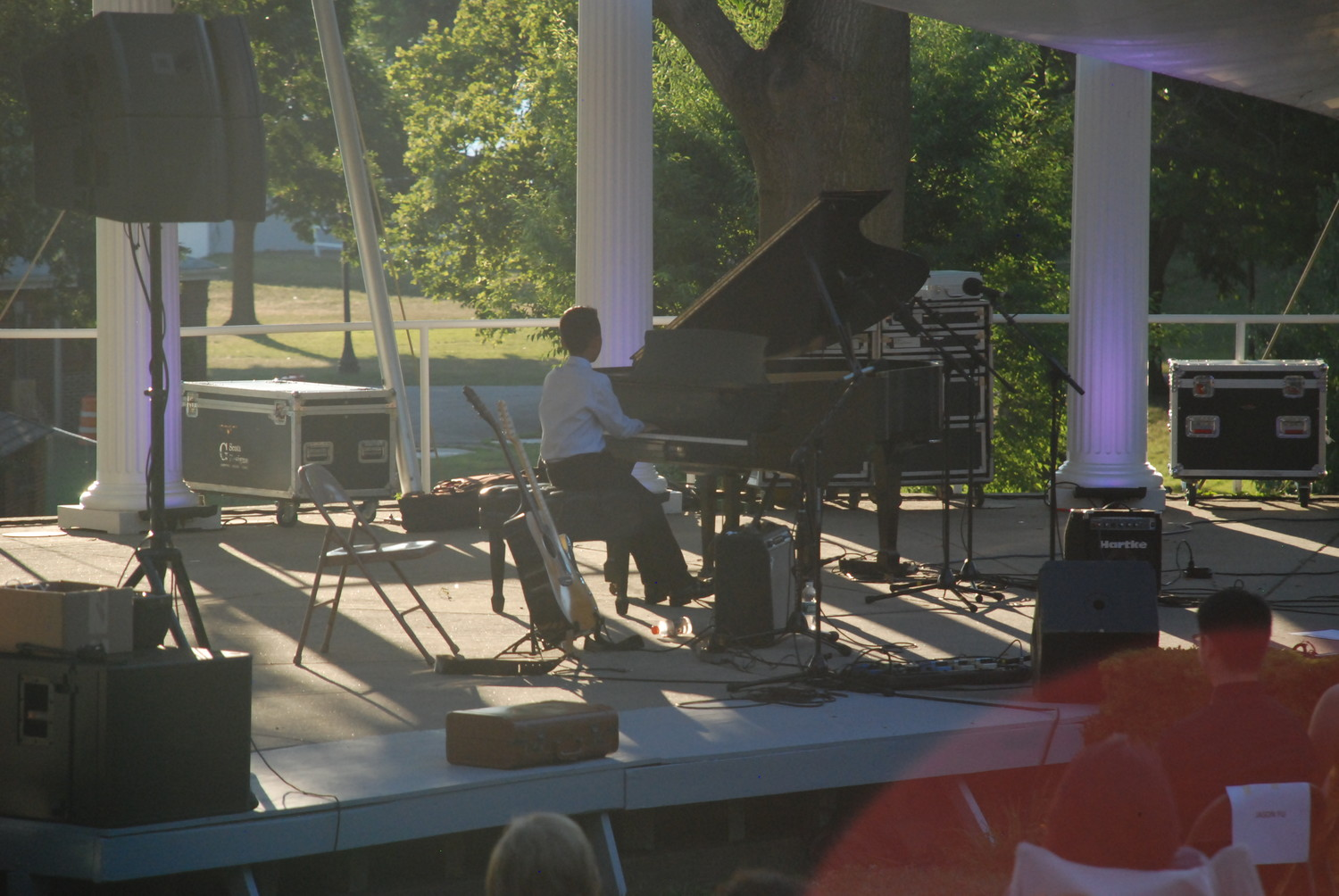 Junior winner Timothy Pang, 11, performed just before sunset last Sunday.