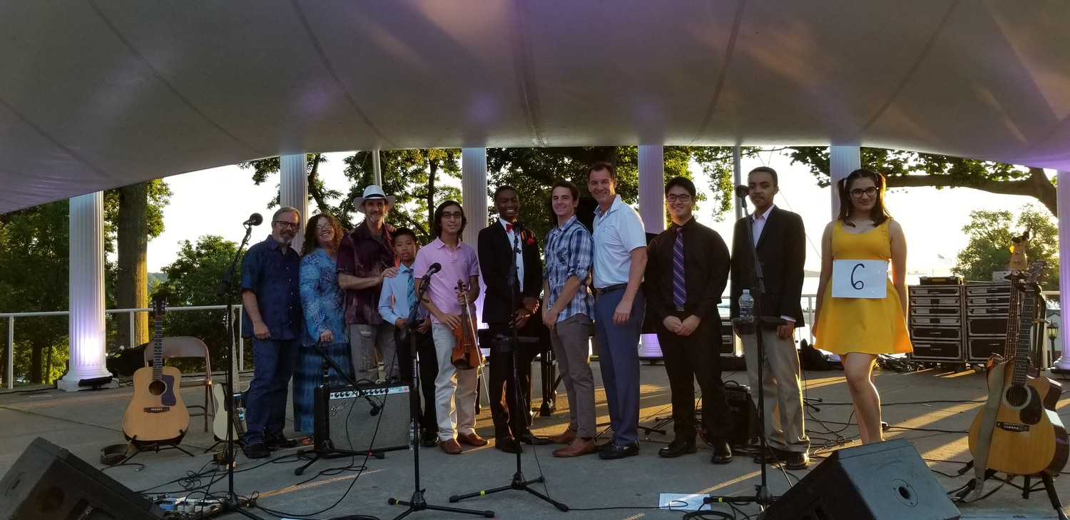 The winners in the Young Performers' Talent Competition got to meet U.S. Rep. Tom Suozzi, whose mother, Marguerite, organized the event for decades before her death last fall.