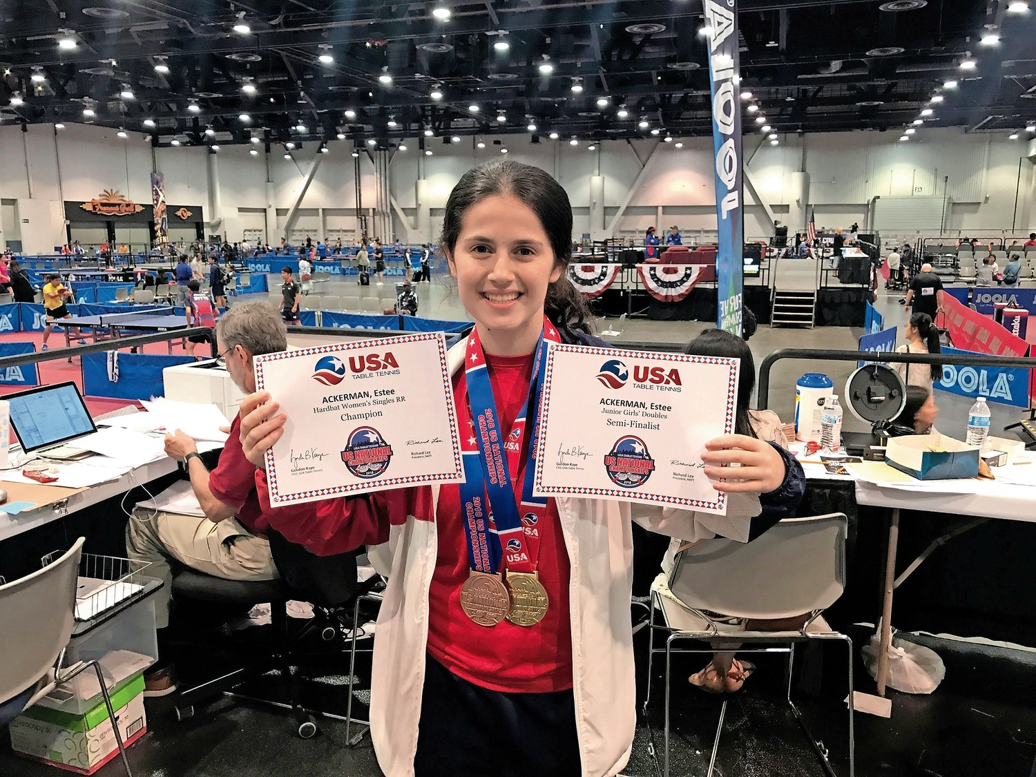 Estee Ackerman, 16, won numerous awards at this year's U.S. National Table Tennis Championships in Las Vegas.