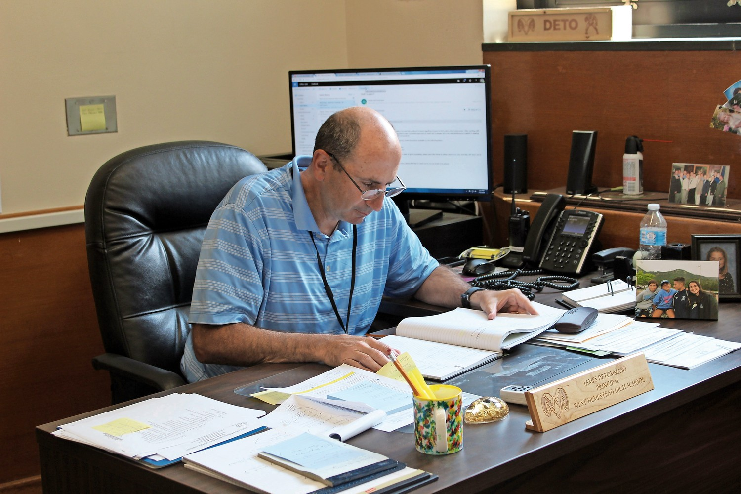 West Hempstead High School Principal James DeTommaso has already begun preparing for the upcoming school year.