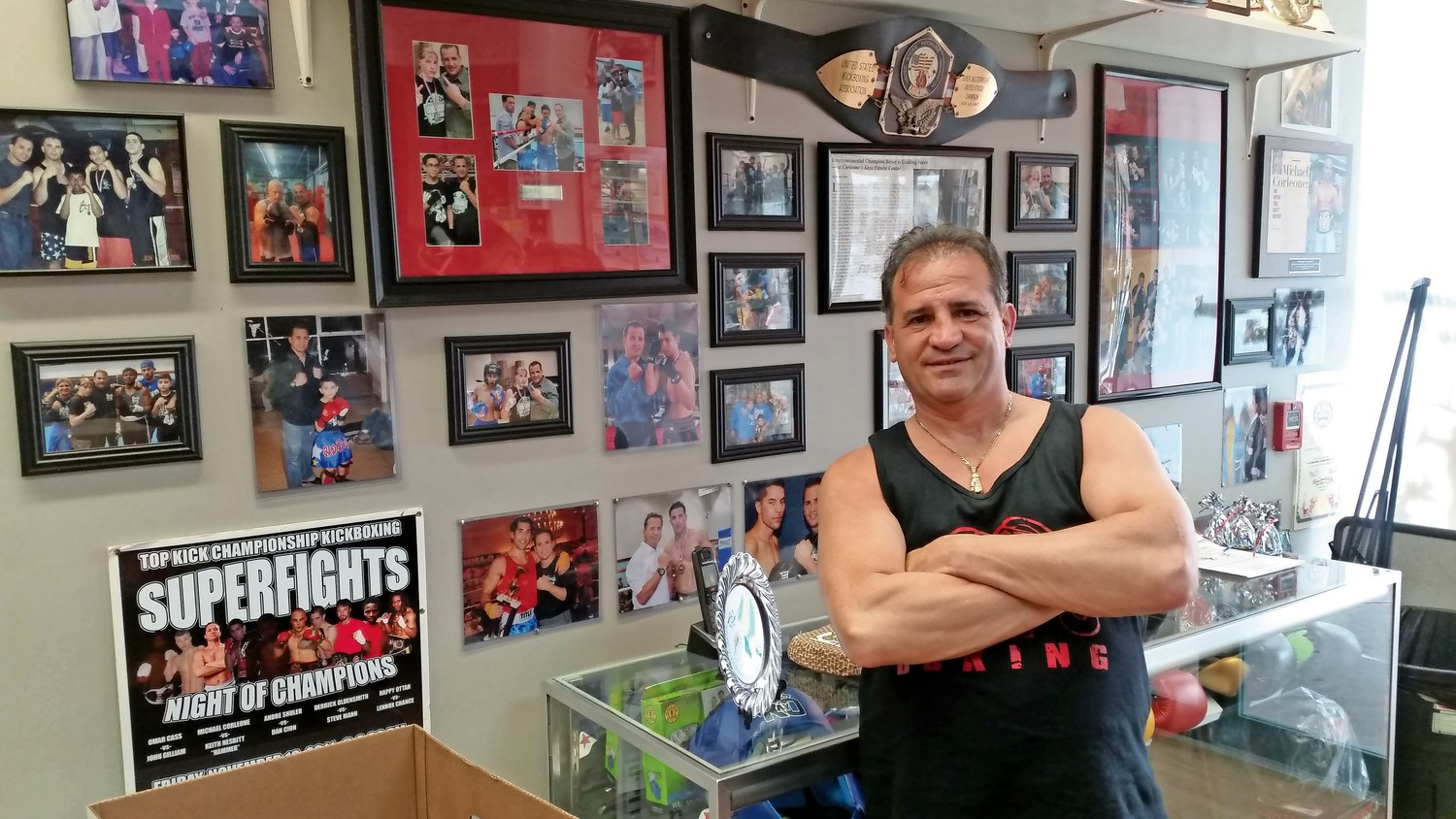 Longtime boxer and kickboxer Michael Corleone was excited to open his new gym, Kayo Boxing, in West Hempstead.
