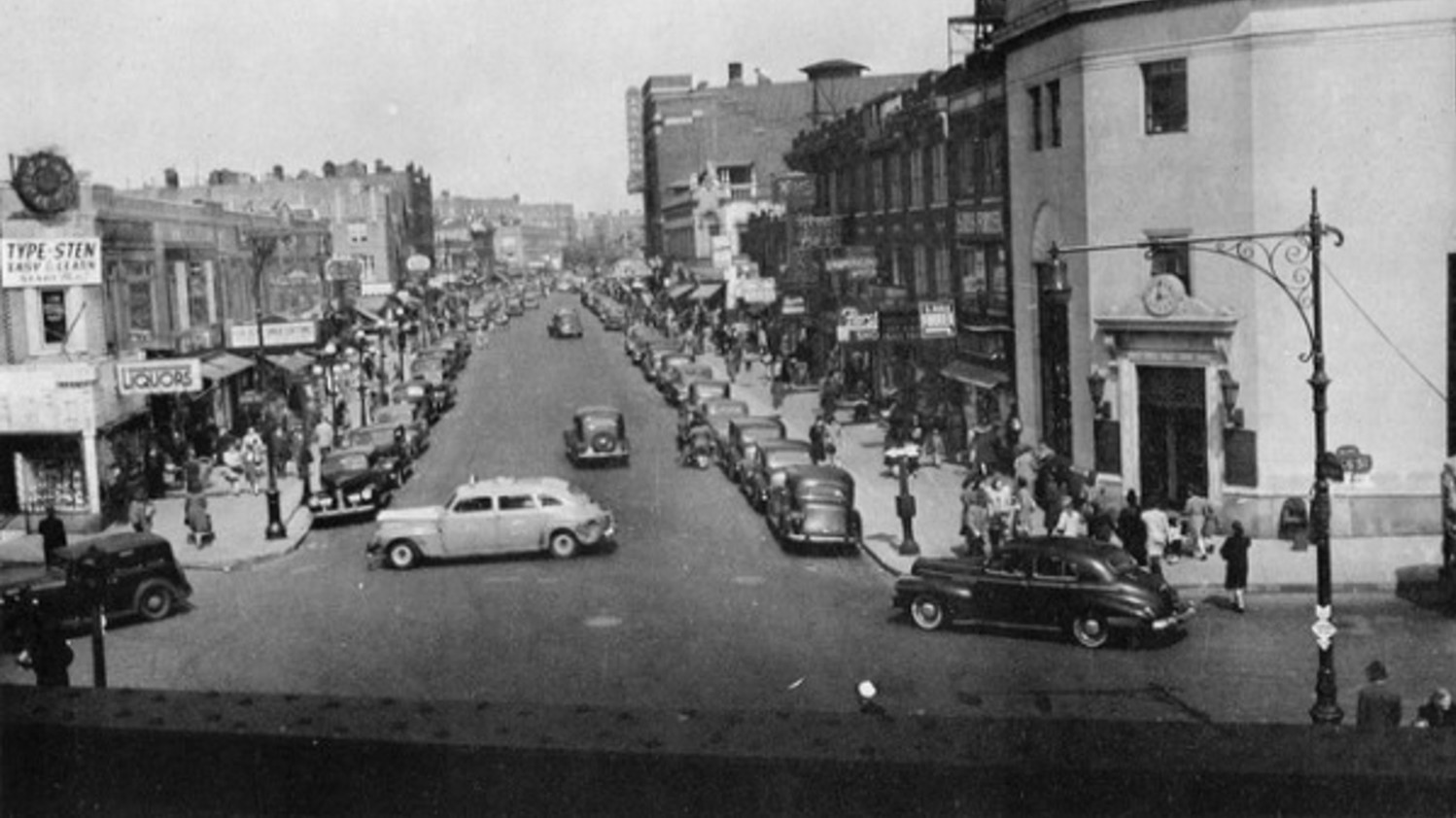 A view of Kings Highway in Brooklyn, circa 1950s, above. Adele Perlow had opened a high-end women's wear shop there in 1942 with her sister Etta.