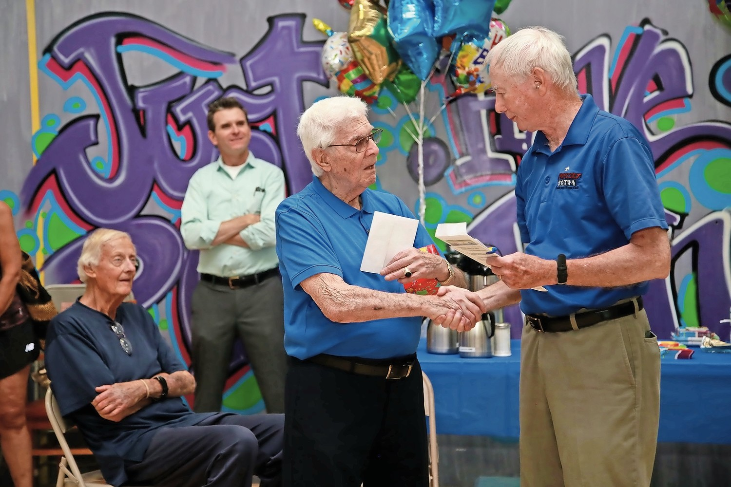 Friends Family Surprise 96 Year Old Gymgoer For Birthday Celebration At Sportset Fitness