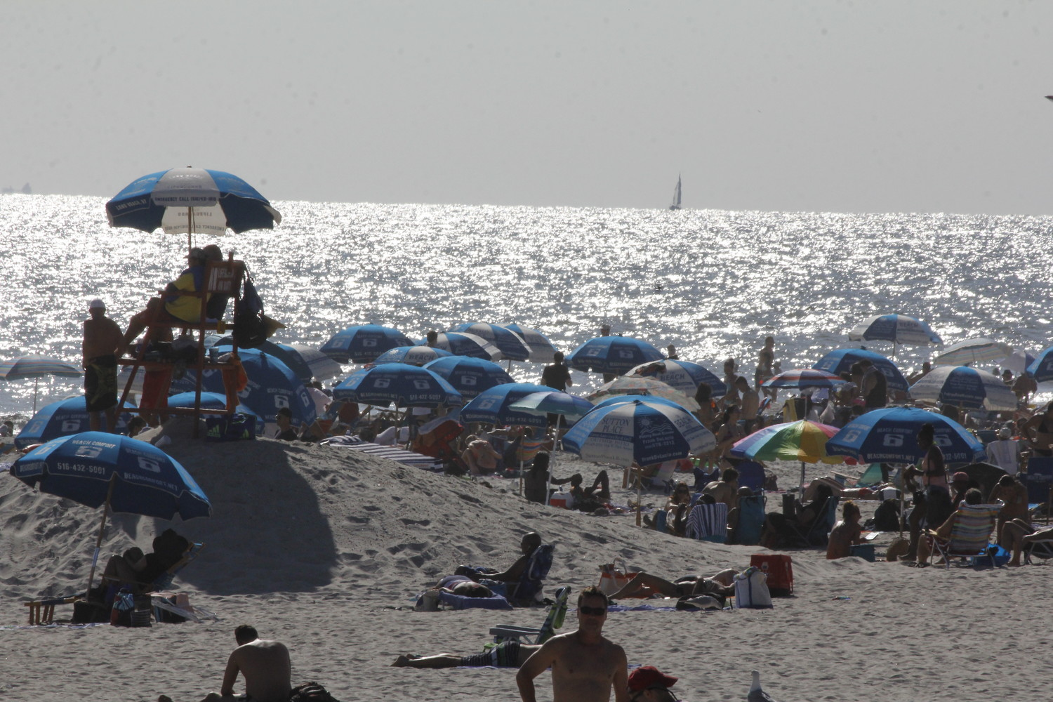 Lifeguards are monitoring the water after two swimmers sustained bites, possibly from sharks, on Fire Island.
