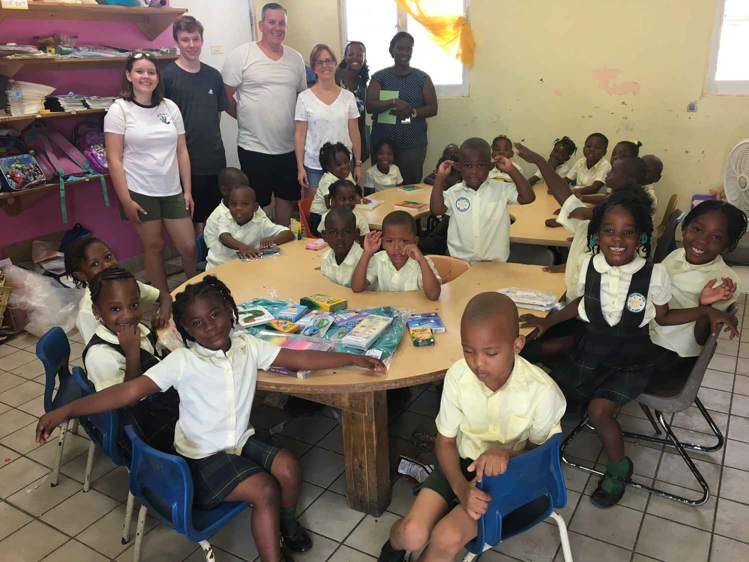 The Urban family, of Seaford, took several pieces of luggage filled with school supplies to Turks and Caicos in June to help local public schools, including the Enid Capron Primary School.