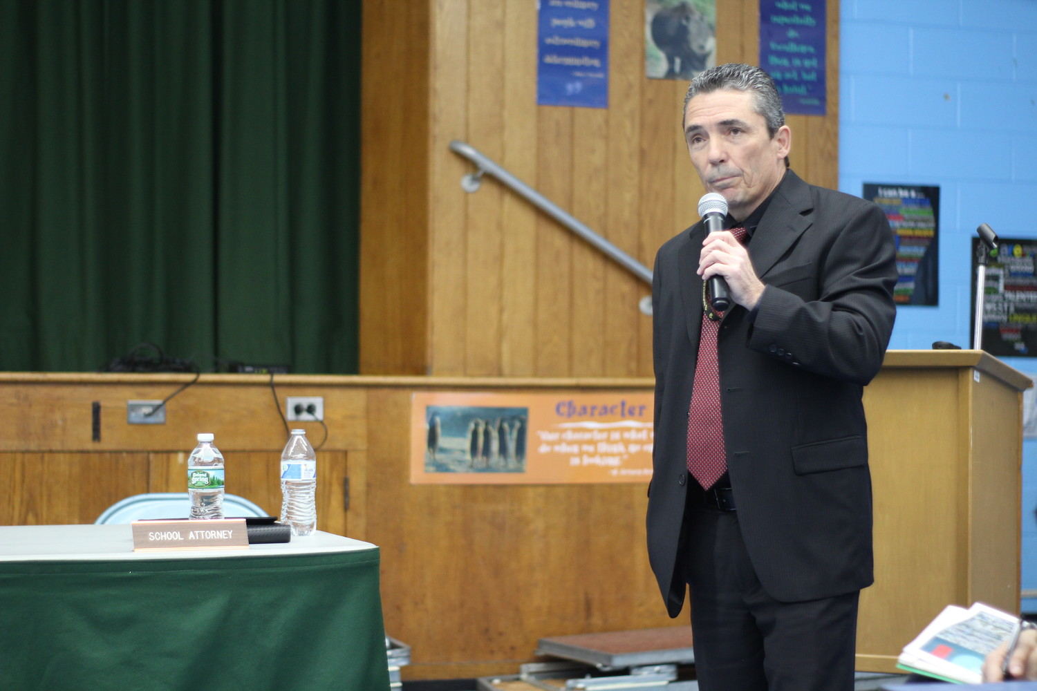 Don Flynn, president and founder of Covert Investigations, gave a presentation at a Seaford Board of Education meeting in April about recommendations for safety and security at the schools. Covert is also the security consultant for Massapequa Schools.