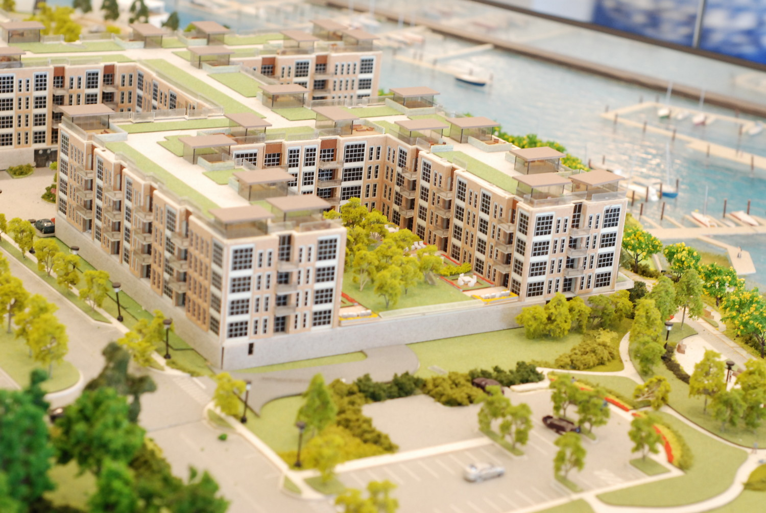 A model of the billion-dollar waterfront project shows what the development will likely end up looking like.