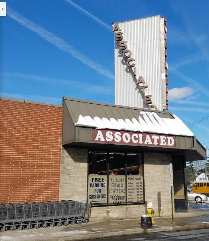 The Associated supermarket on Long Beach Road in Rockville Centre, one of the stores in the chain that Harry Laufer owned.