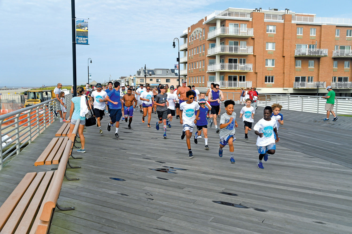 About 100 people participated in this year's Larry Elovich 5K Memorial Fun Run and Walk on the boardwalk.