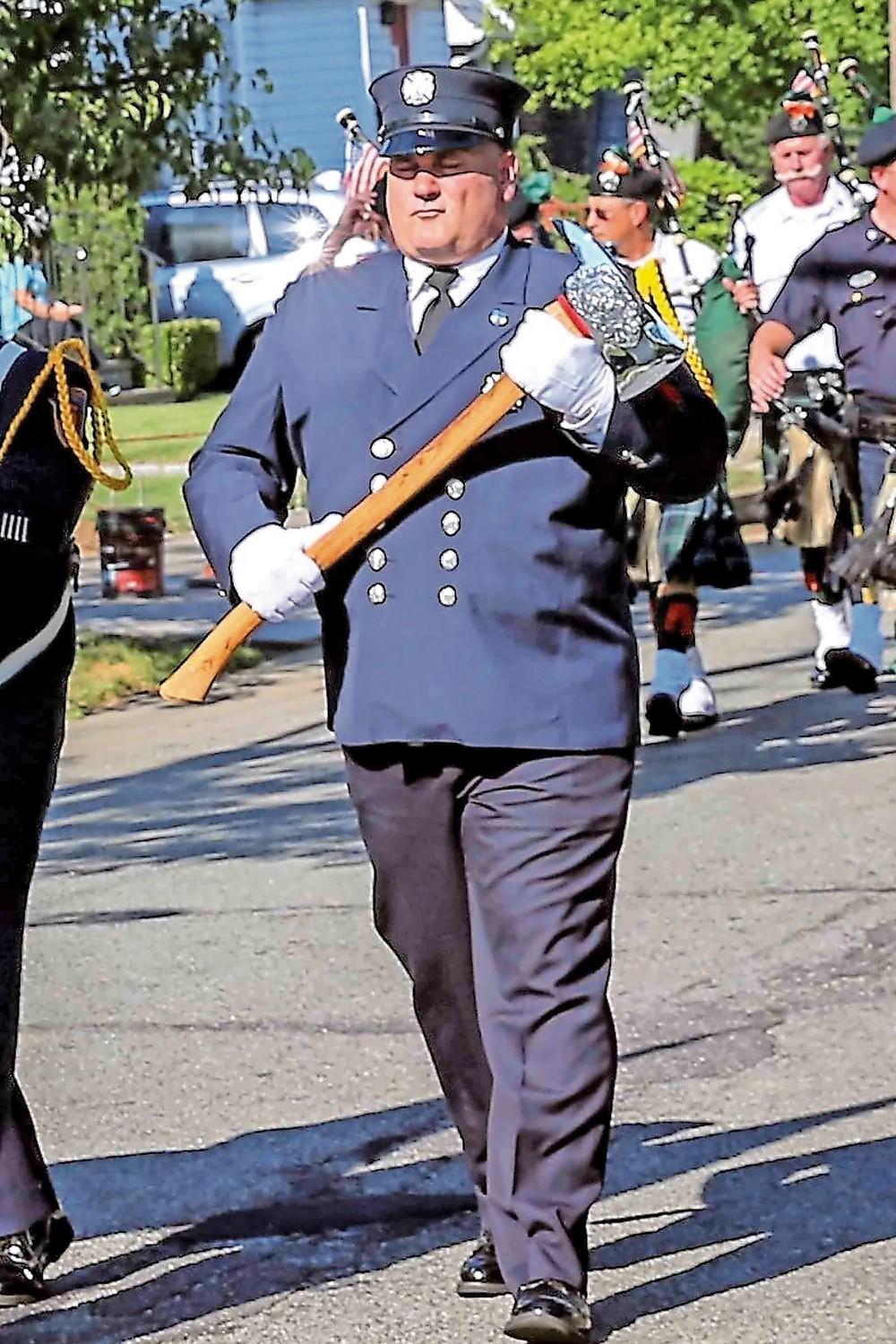 George Scheer served as a member the Malverne Fire Department for nearly 30 years.