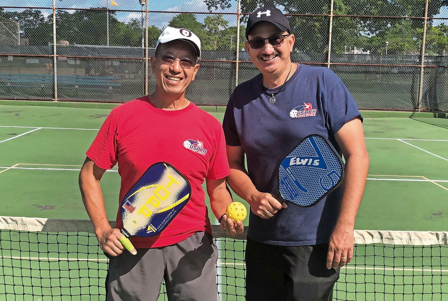 Metro New York Pickleball Ambassador Jones Wong, left, and Nassau County Ambassador Elvis Maduro organize games around the county and spread awareness of the fast-growing sport.