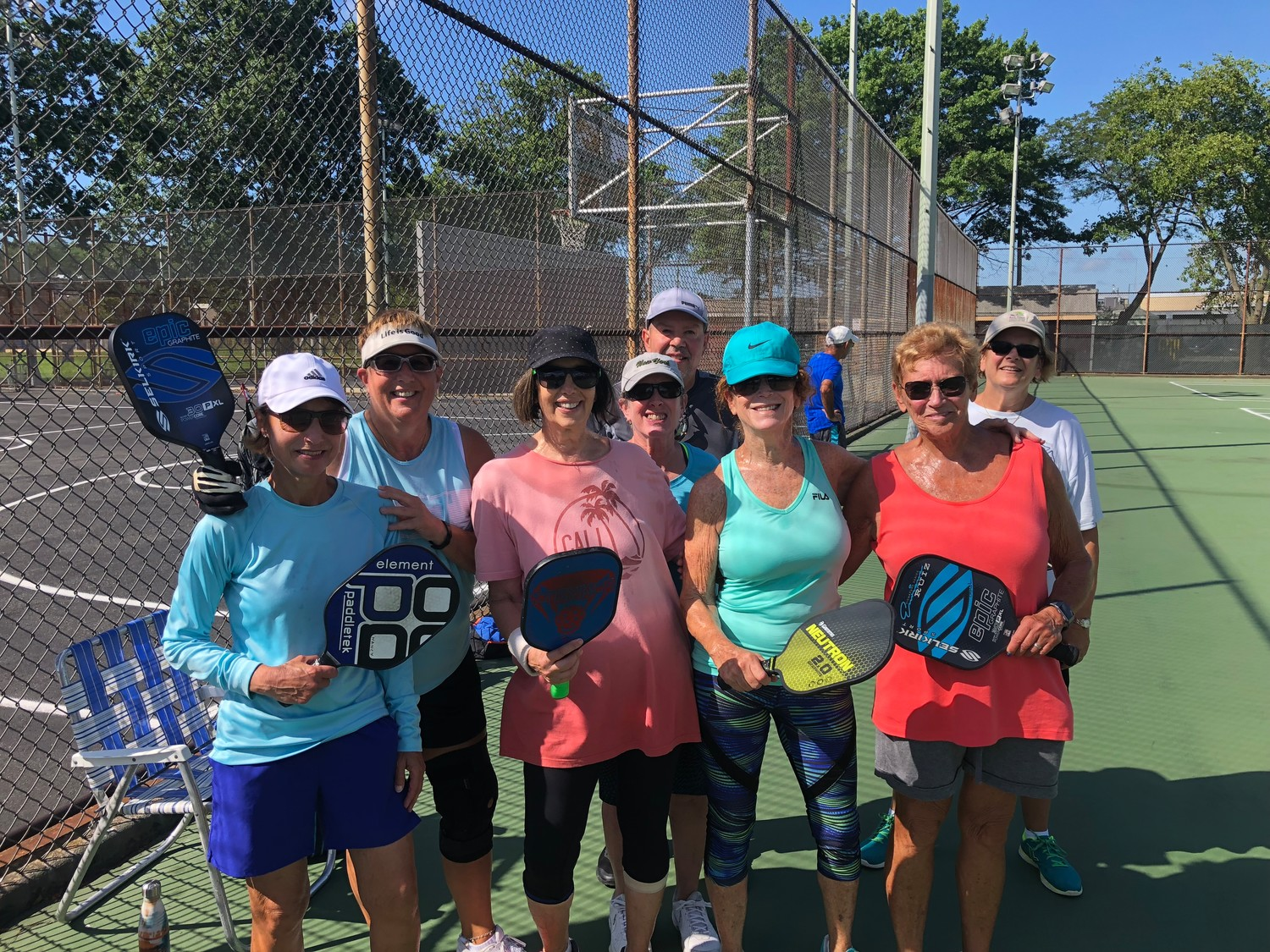 Pickleball brings friends together on the court every morning in Merrick.