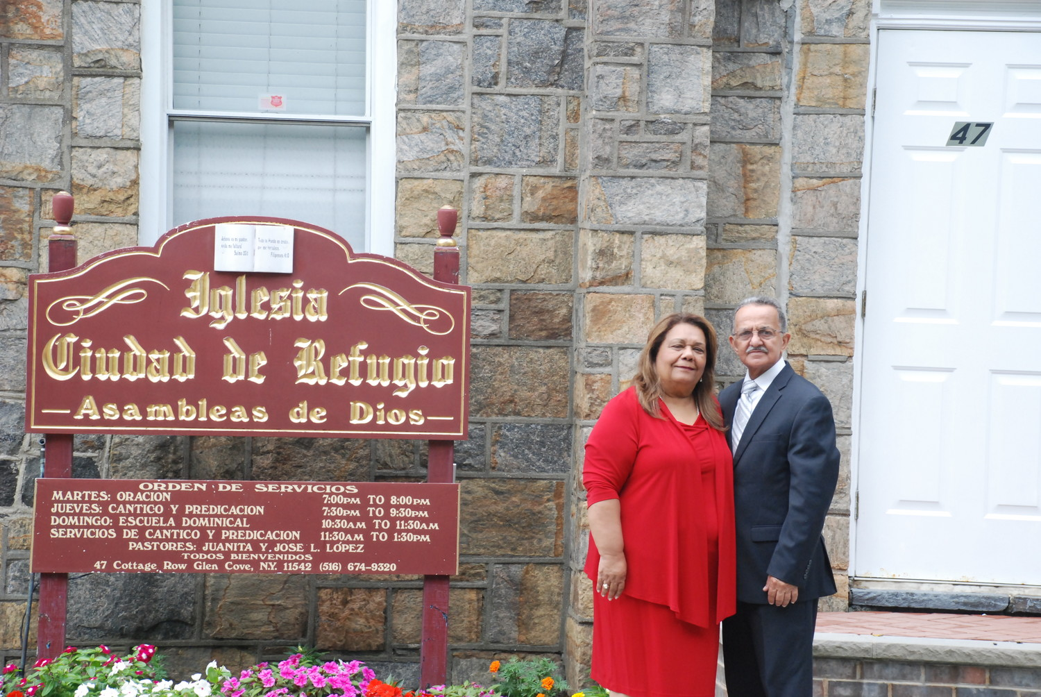 The Revs. Juanita and Jose Lopez, of Iglesia Ciudad De Refugio, recently celebrated their 40th anniversary as pastors of Glen Cove's oldest Hispanic church.