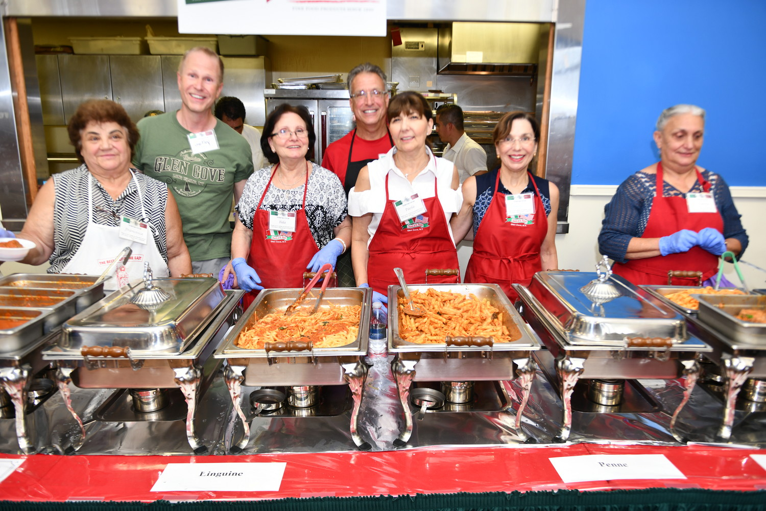 Volunteers kept the food coming — and coming — throughout the feast.