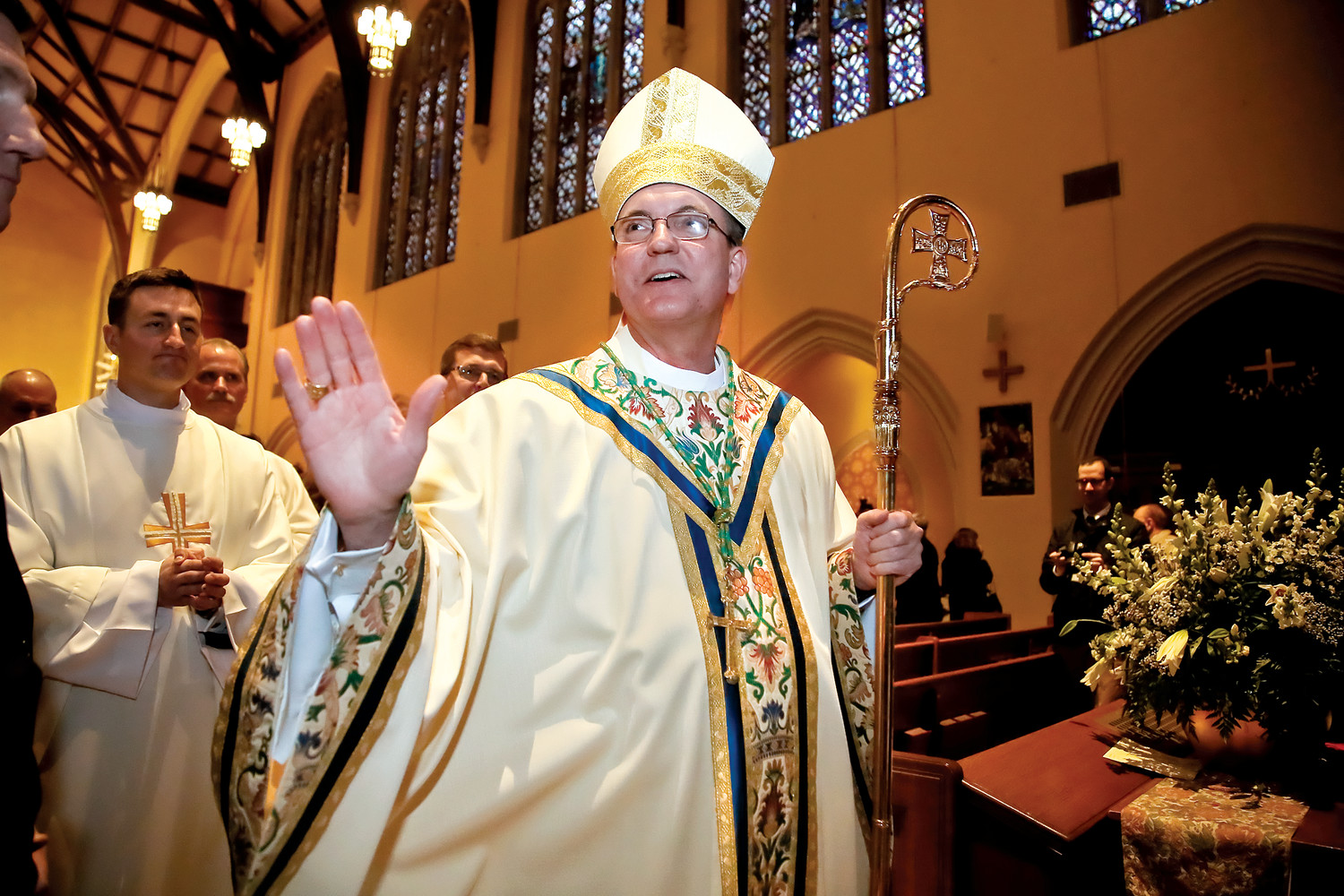 Bishop John O. Barres, installed as the leader of the Diocese of Rockville Centre last year, was named in a report detailing the alleged cover-up of clergy sexual abuse in Pennsylvania. He was bishop of the Diocese of Allentown from 2009 to 2016.