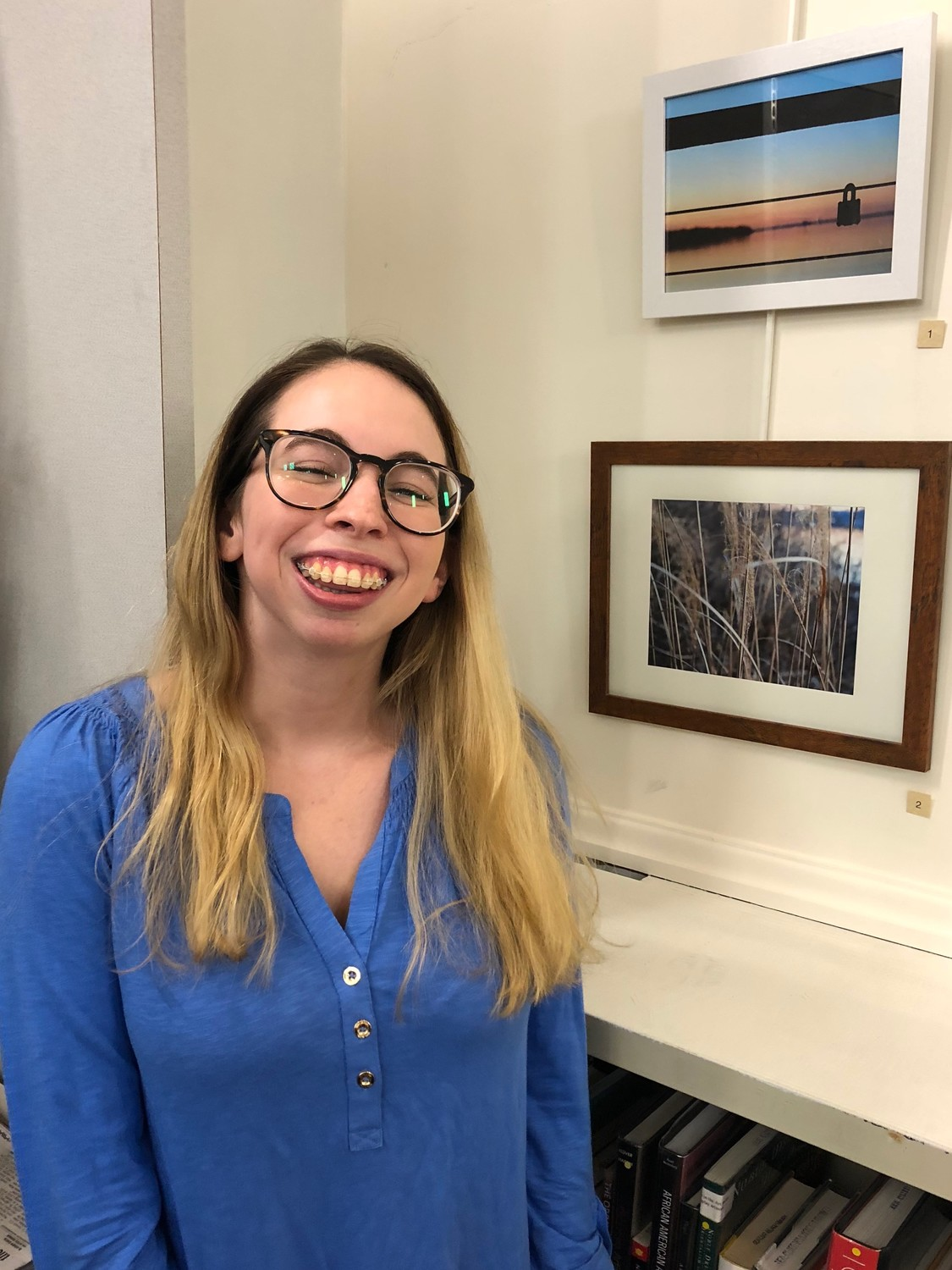 Sydney Goldman showcased her   photography for the first time. Her pieces depict Sea Cliff's boardwalk from different perspectives.