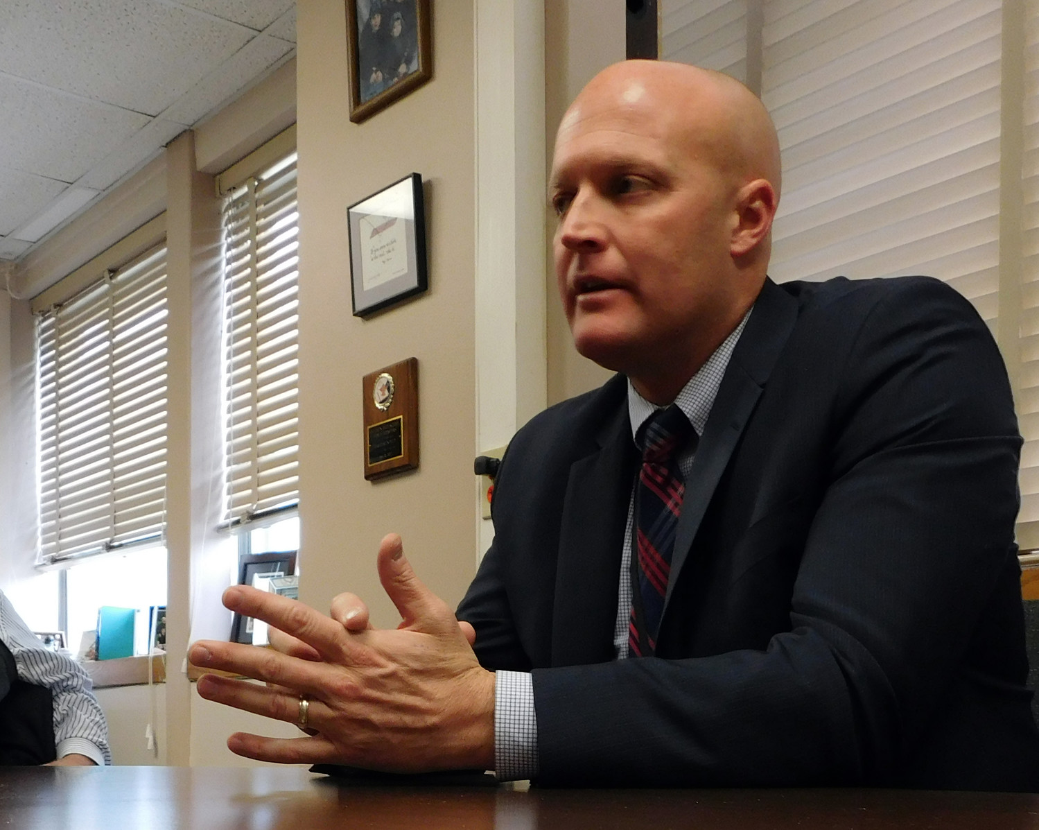 Michael Harrington, assistant superintendent for curriculum and instruction in the Bellmore-Merrick Central High School District, pictured last year, said that his district is ahead of the curve when it comes to providing mental health education to students.