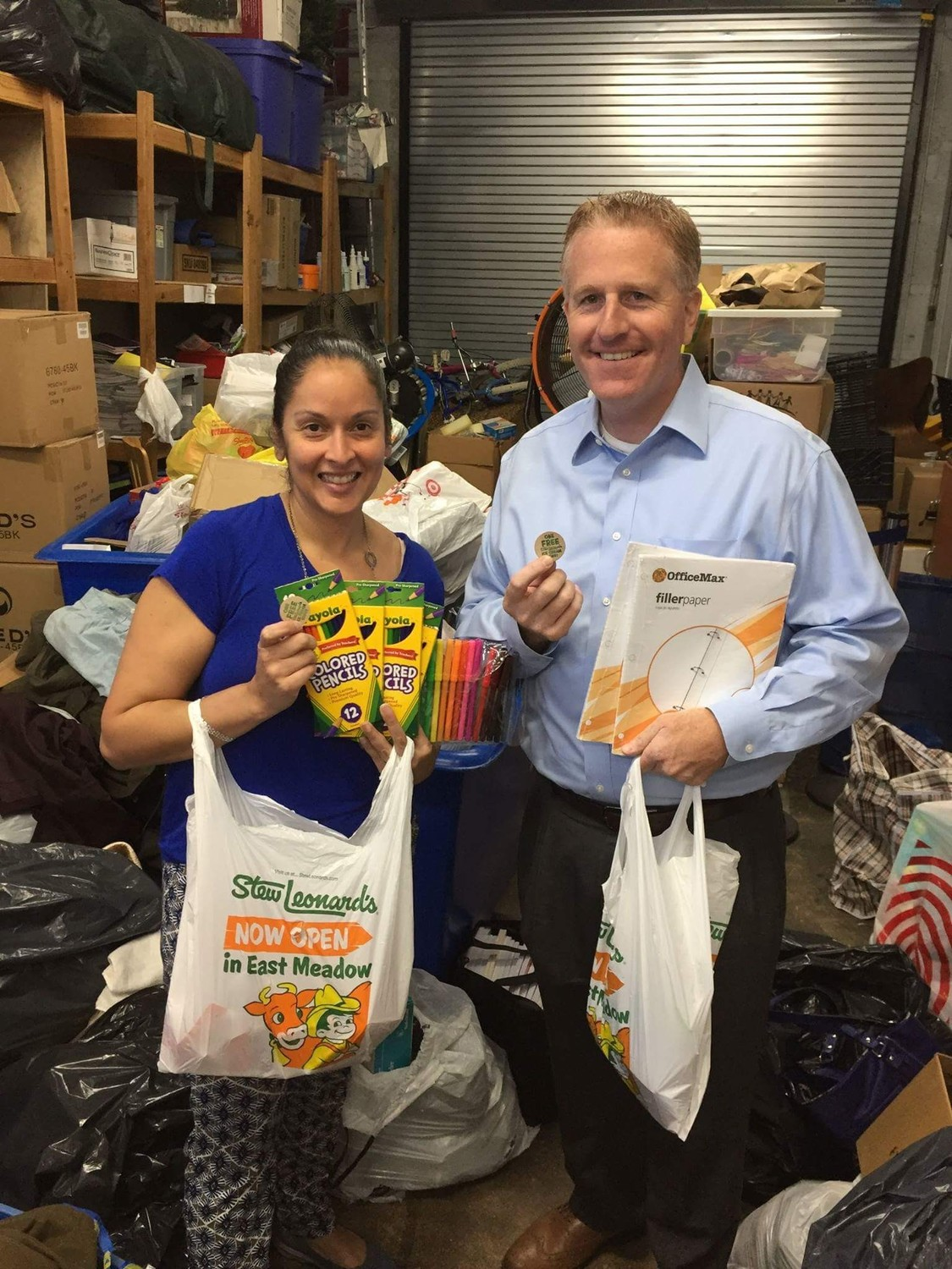 For the third consecutive year, Nice Things That Happen in East Meadow is sponsoring a school supplies drive to benefit the Interfaith Nutritional Network in Hempstead.