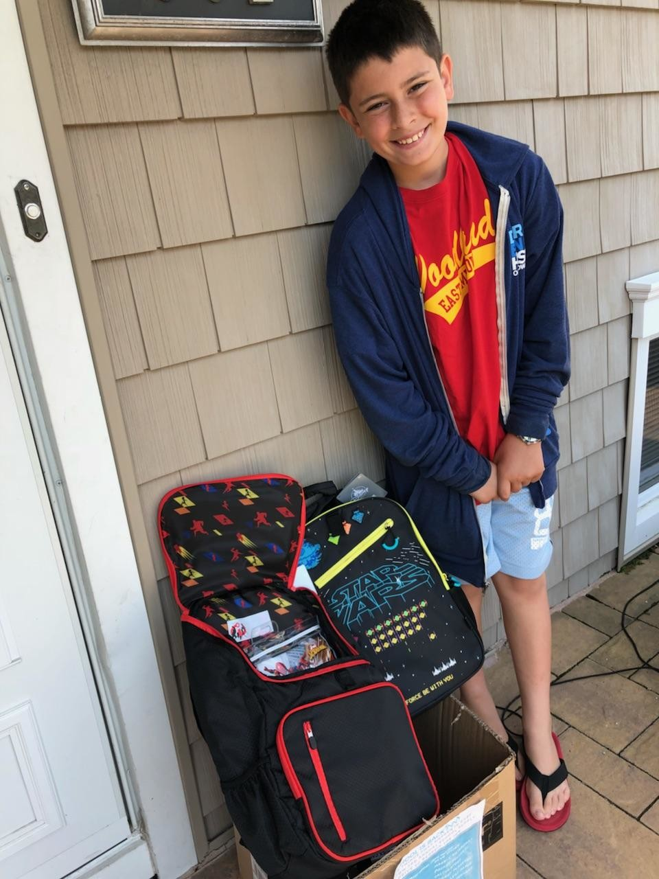 Josh Sobel, a sixth-grade student at Woodland Middle School, was eager to collect school supplies for children in need.