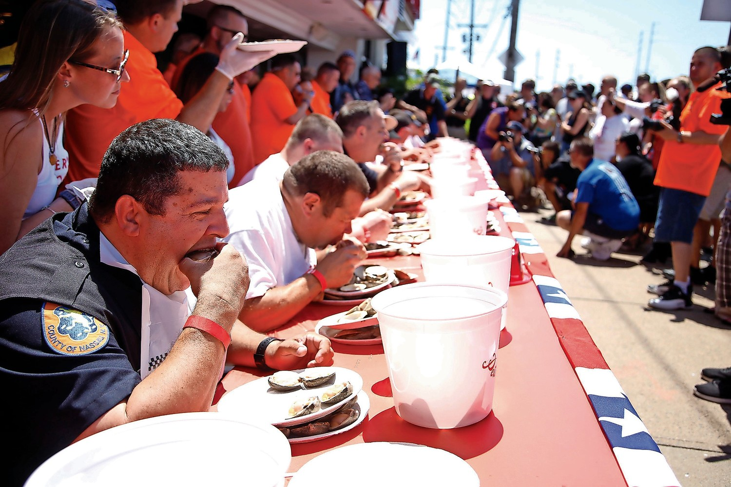 Peter's Clam Bar's Clam Eating contest draws hundreds firefighters and civilians from all over. This year the contest is set for Aug. 19.