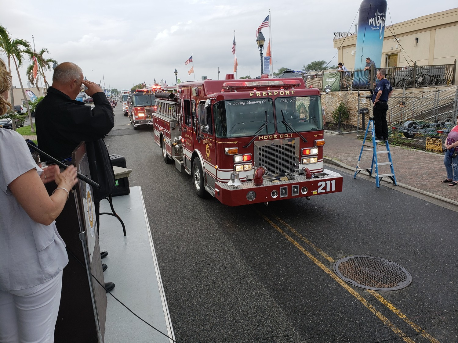 Freeport Hose company 1 showed off its truck.