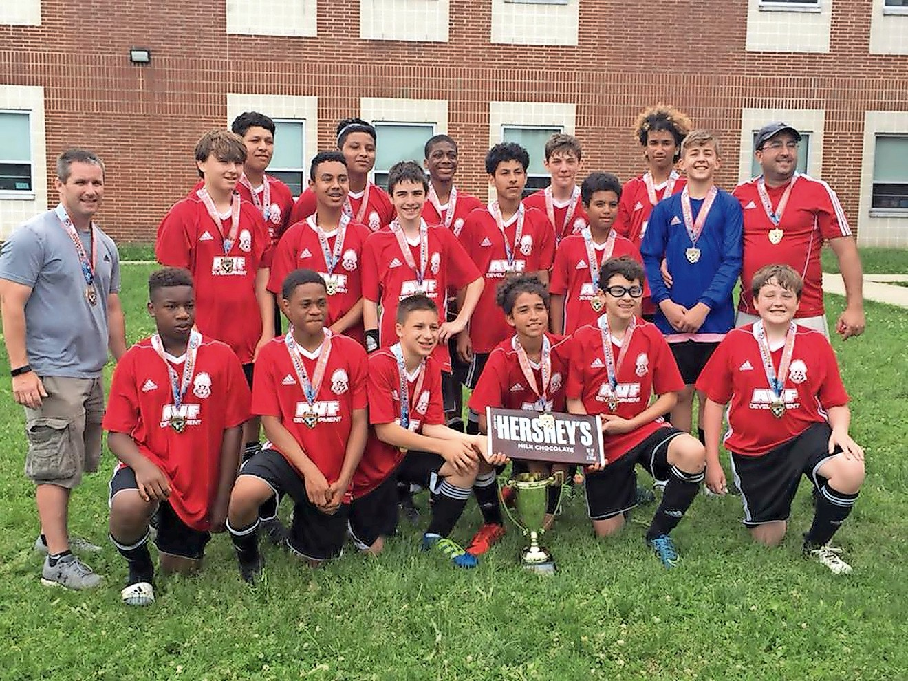 The West Hempstead Titans boys' 14-and-under team tied for first place in their division.
