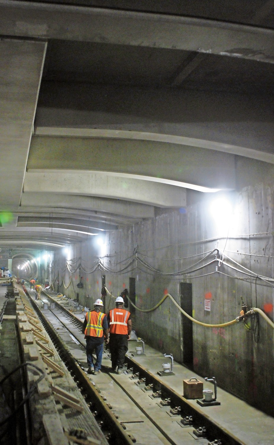 New LIRR tracks are going in under Grand Central. When complete, the LIRR station will have eight tracks and four platforms.