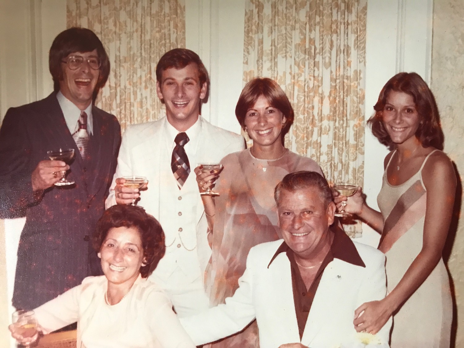 The DeBauns, clockwise from top left, Bruce, Craig, Pam, Priscilla and Joe and Edyth at the couple's 35th wedding anniversary in 1977 at the Rockville Links country club. Edyth died on Aug. 16.