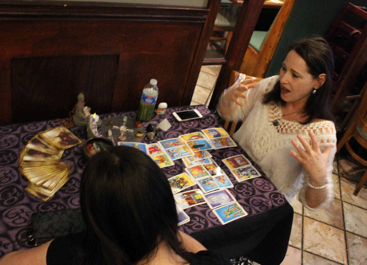 All psychics and mediums work through ESPConnection.com, including tarot card reader Lori Nostramo.