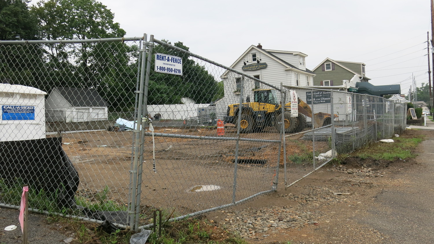 Work is under way on a 7-Eleven on Route 106 in Oyster Bay, next to Coach Grill.