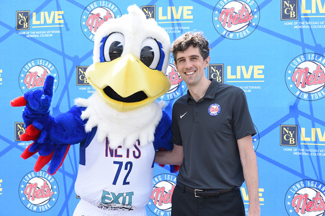 Dale with Long Island Nets head coach Will Weaver.