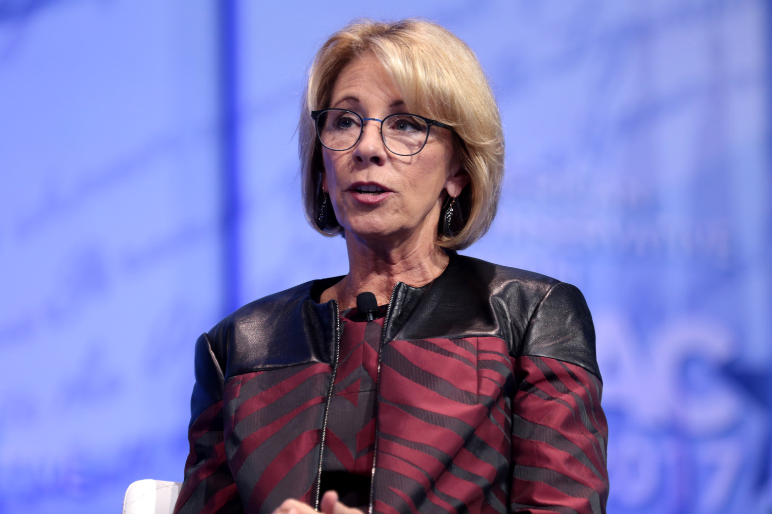 U.S Education Secretary Betsy Devos is considering releasing federal funds for the purpose of purchasing firearms for use by public school teachers.