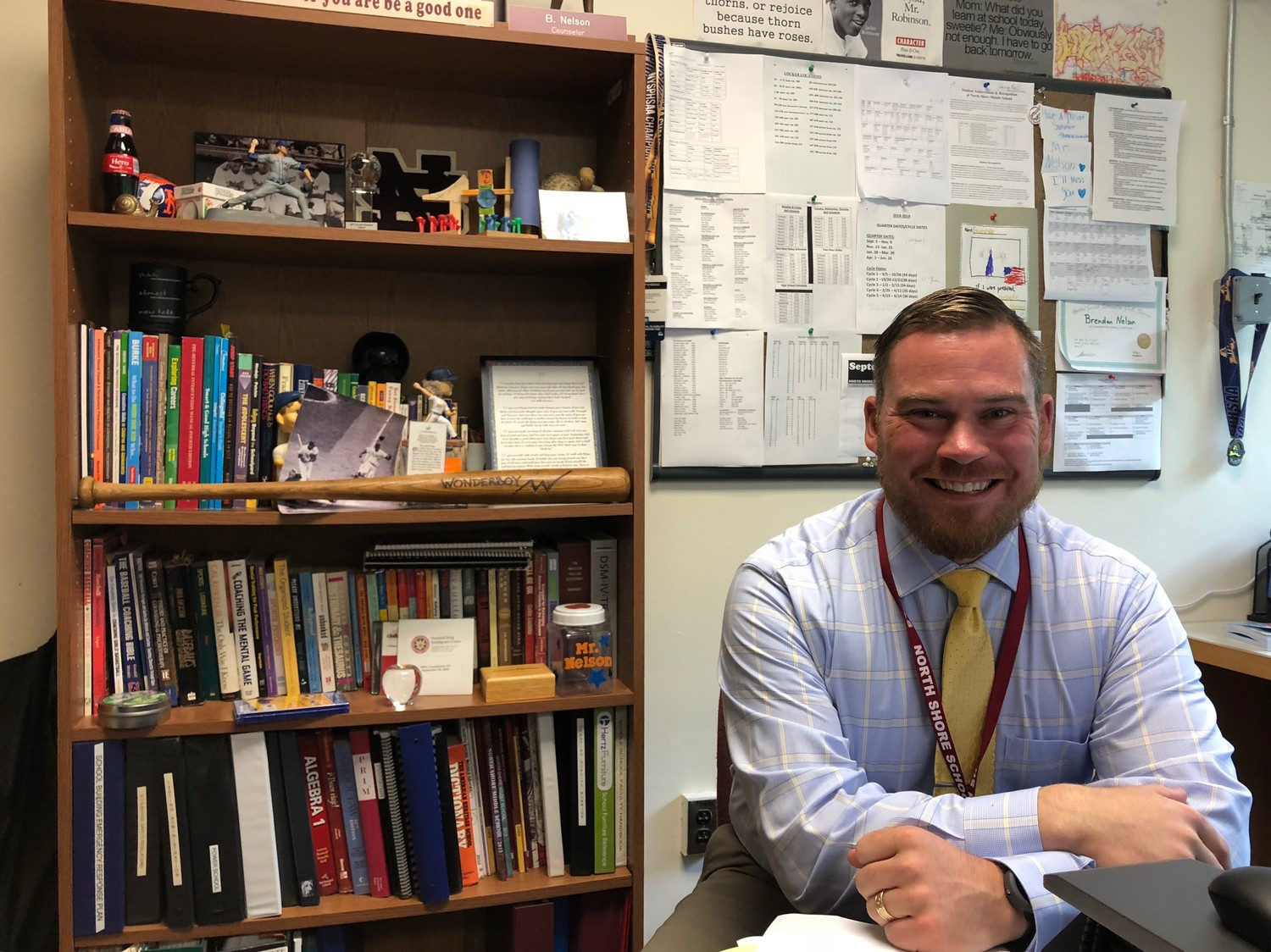 Brendan Nelson is the new assistant principal at North Shore Middle School.