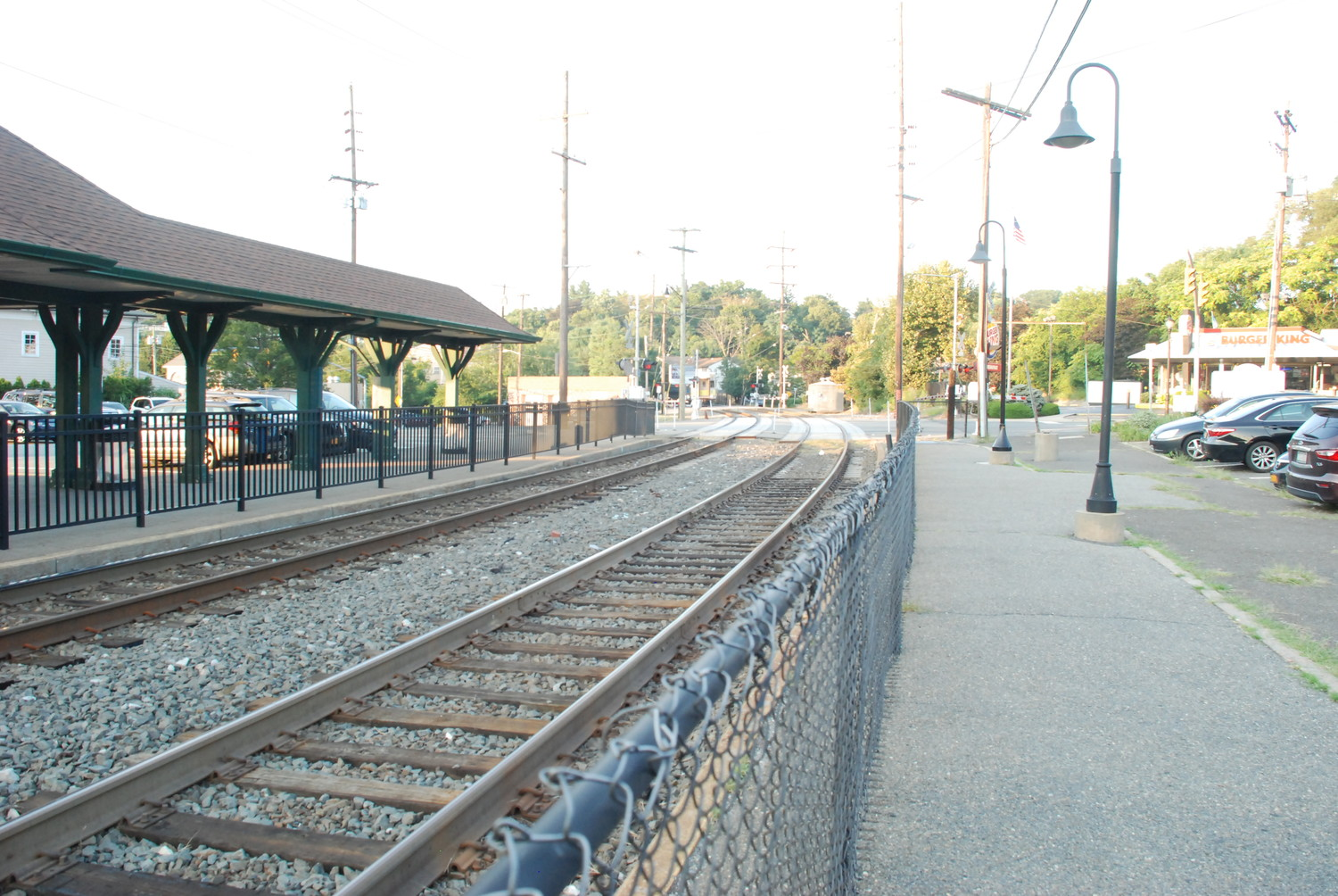 The Glen Street station of the Long Island Rail Road is located on the Oyster Bay line.
