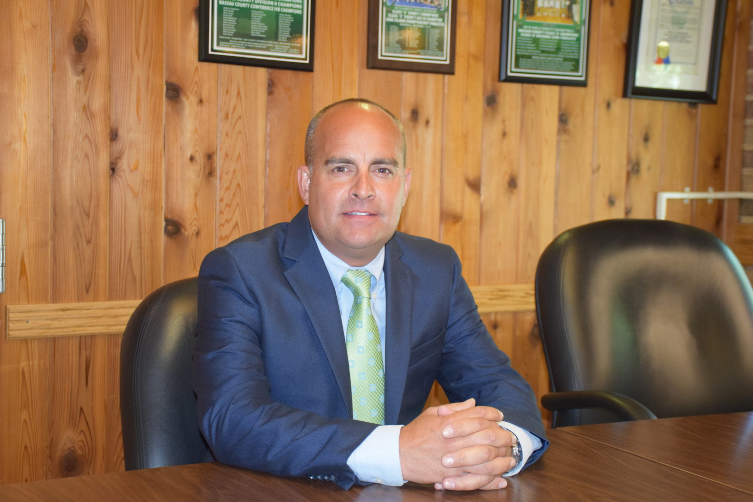 Patrick DiClemente, the new principal at Locust Valley High School, is looking forward to the first day of school.
