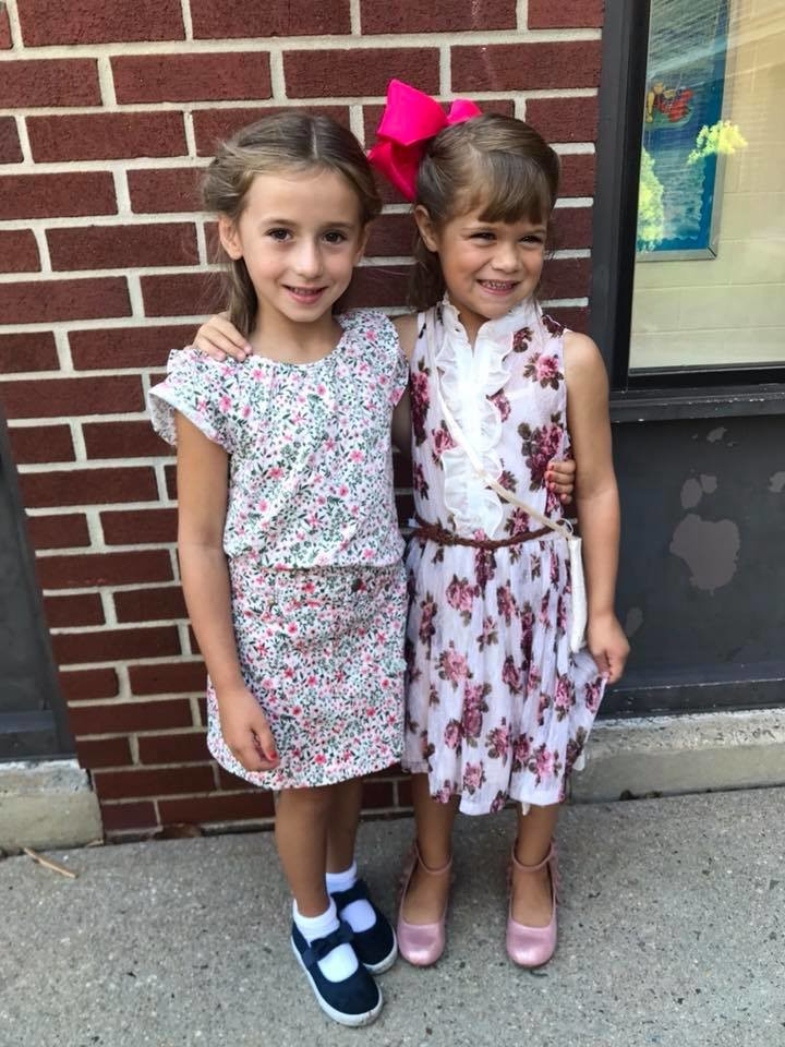 Brooke, left, and Scarlett were ready for their first day of kindergarten at Centre Avenue.