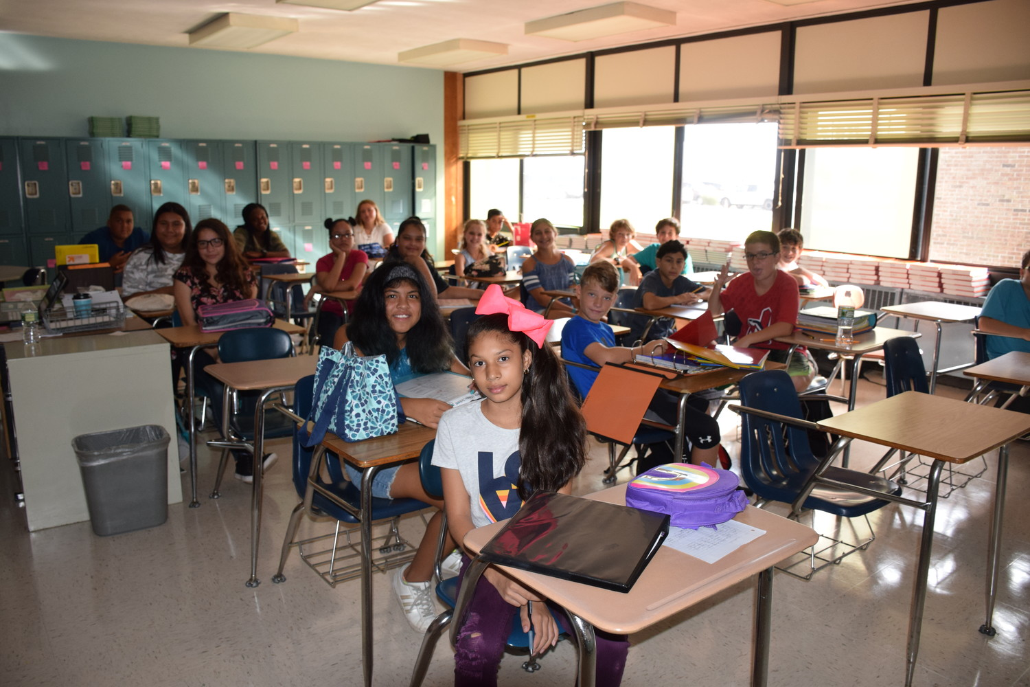 Long Beach Middle School students prepared for the 2018-19 school year.
