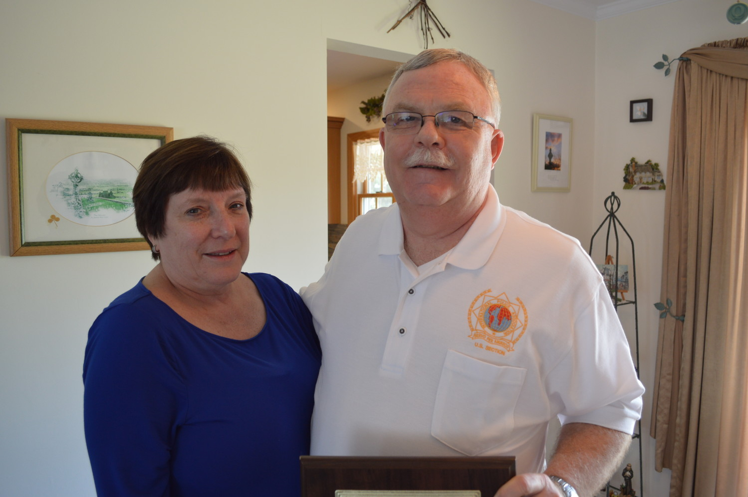 After 22 years working with Disaster Mortuary Operational Response Team 2, Kevin Costigan retired this spring. He is pictured with his wife, Kathy, at their Oceanside home.