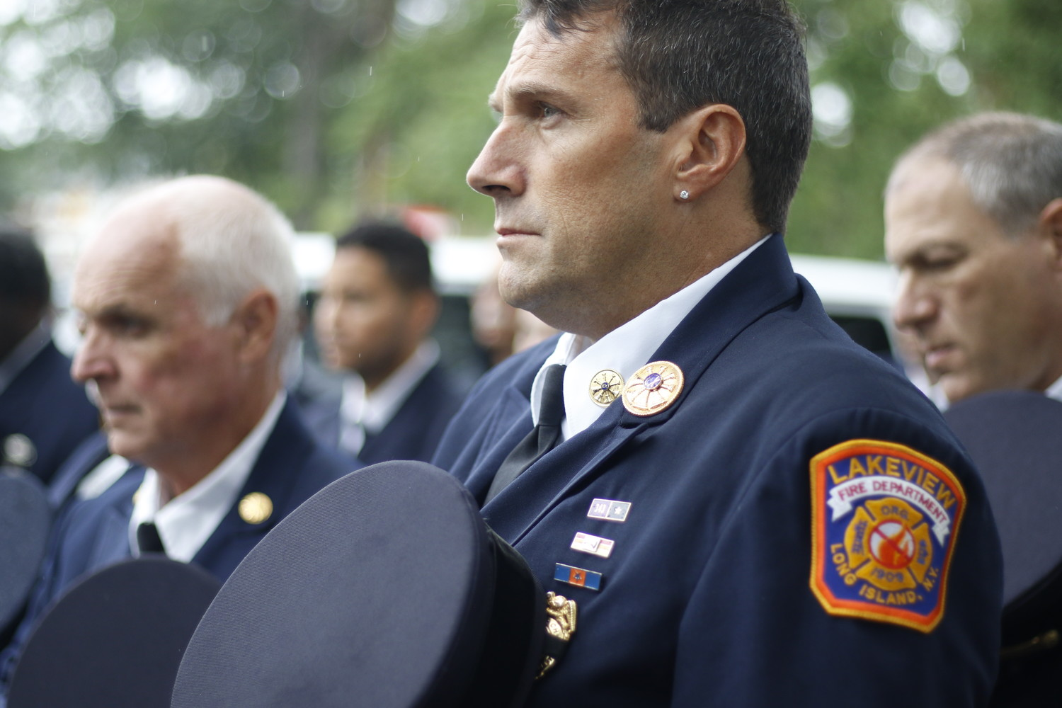 Lakeview Fire Department Ex-Chief Vic Cantelmo was one of several firefighters that honored victims of 9/11.