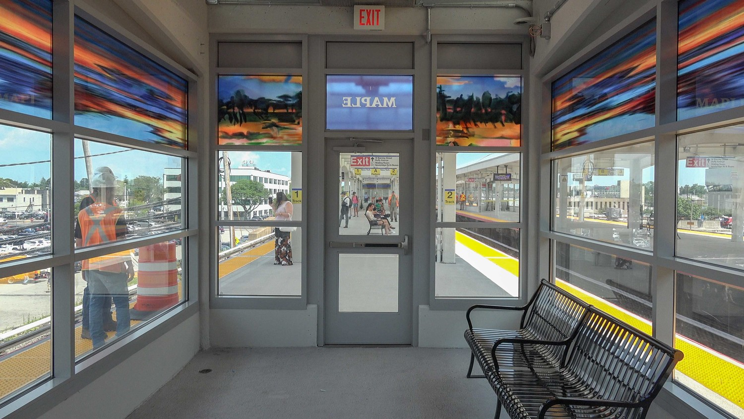 the station renovation project will include the installation of two new glass waiting rooms on the platforms.